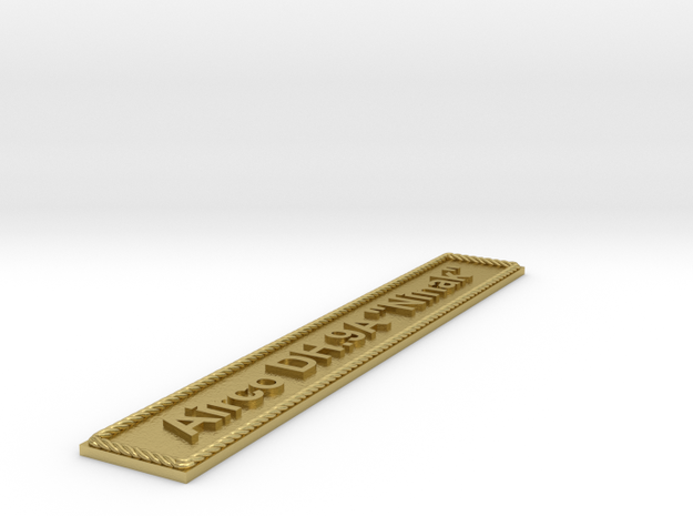 "Nameplate Airco DH.9A ""Ninak"" in Natural Brass"