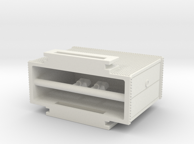 1/64 Mack CF rear mount cabinet section in White Natural Versatile Plastic