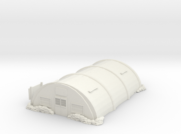 Tin Barracks in White Natural Versatile Plastic
