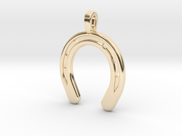Horseshoe in 14k Gold Plated Brass