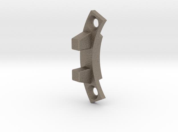 Handcar 1:6 Scale Gear Crank Rib in Matte Bronzed-Silver Steel