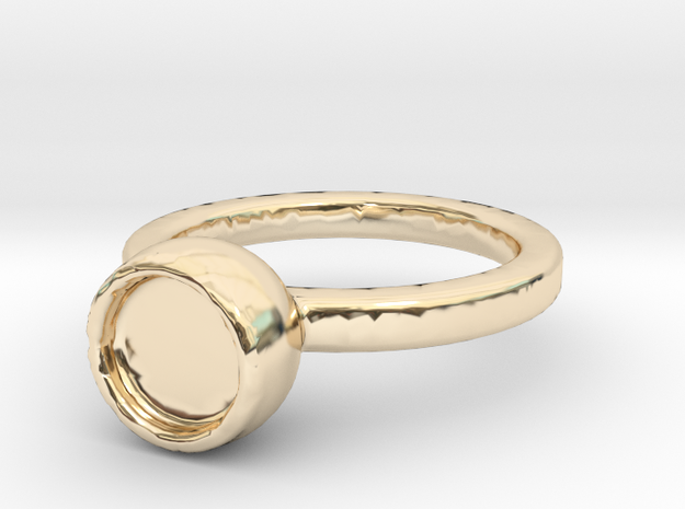 Art Ring Print for memory  in 14k Gold Plated Brass