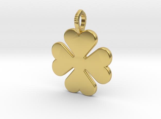 Cloverleaf in Polished Brass