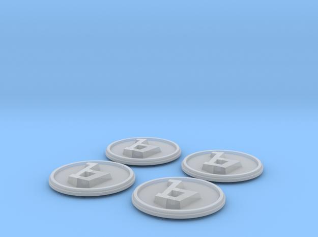 138001-01 CD131 Center Cap Emblem Bertone, 44mm in Smooth Fine Detail Plastic