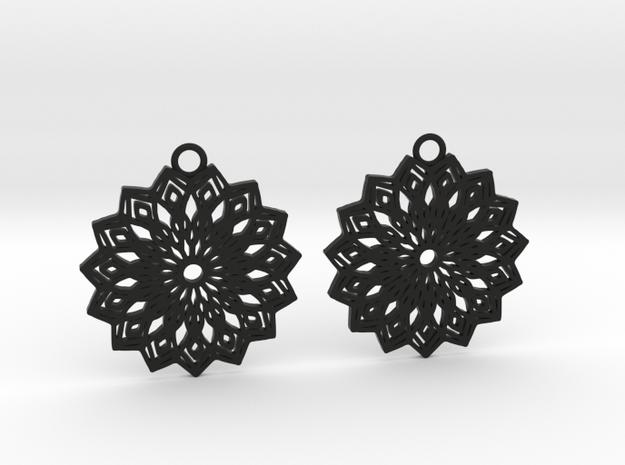 Lelia earrings in Black Natural Versatile Plastic: Large