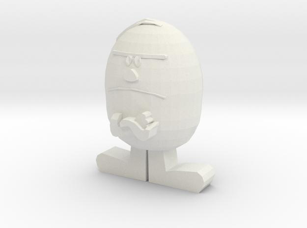 Mr. Stubborn in White Natural Versatile Plastic