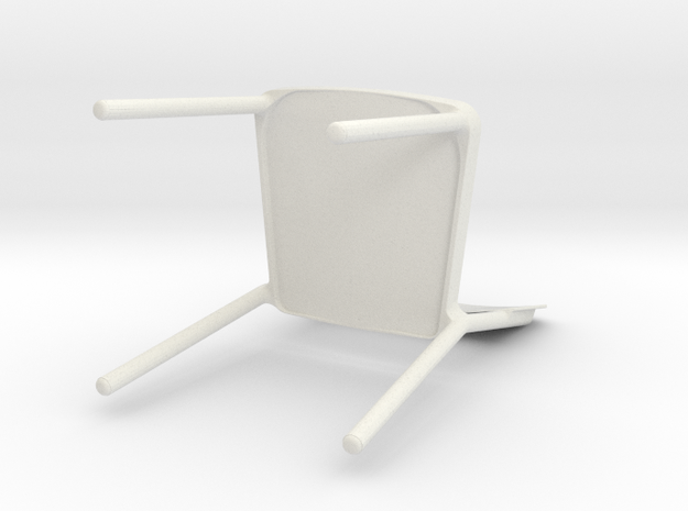 Stackable chair in White Natural Versatile Plastic