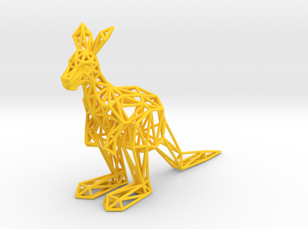 Red Kangaroo (male adult) in Yellow Processed Versatile Plastic