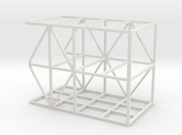 Aussie cattletrailer rear section 1/24 scale in White Natural Versatile Plastic