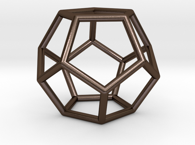 Dodecahedron 5 in Polished Bronze Steel