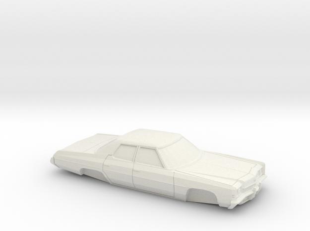 1/64 1972 Chevrolet Impala Sedan Shell in White Natural Versatile Plastic