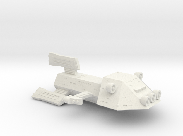3125 Scale Kzinti Medium Scout Cruiser (MSC) SRZ in White Natural Versatile Plastic