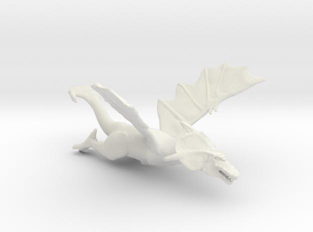 Omni Scale Space Dragon Old Female MGL in White Natural Versatile Plastic
