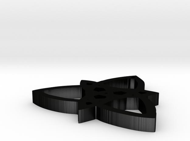 trinity knot in Matte Black Steel