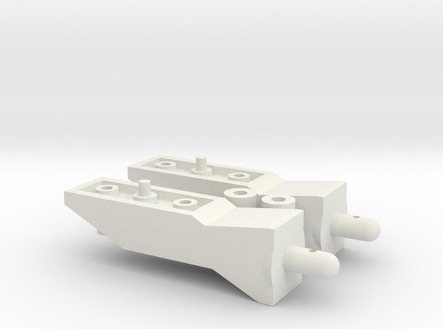 Tamiya Pajero CC01 15mm Body Lift Kit in White Natural Versatile Plastic