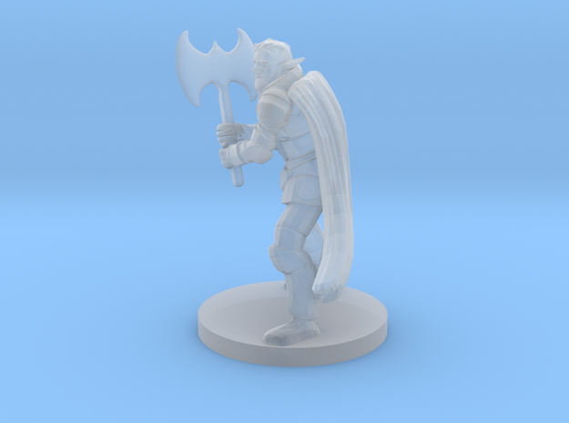 Forest Guardian Great Weapon Fighter in Smooth Fine Detail Plastic