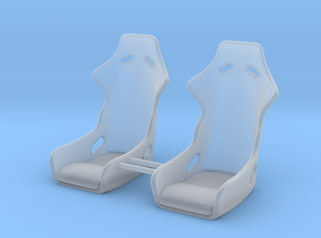 1/64 Ultra Thin Bucket Seats in Smoothest Fine Detail Plastic