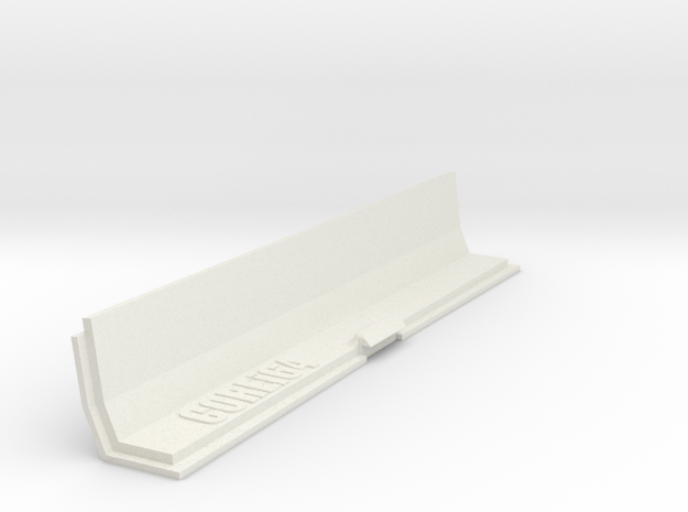 Amiga 500 Expansion Port Cover in White Natural Versatile Plastic