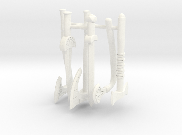 GAUL WEAPONS SET in White Processed Versatile Plastic
