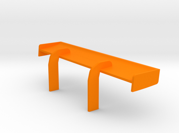 PSSX00503 rear wing for Scalextric Bentley Cont. G in Orange Processed Versatile Plastic