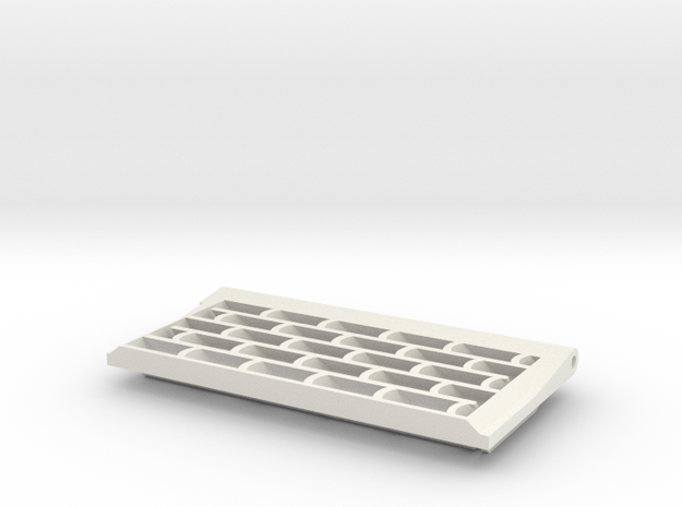 Tiger I, Abluftgitter, initial, rechts, 1:10 in White Natural Versatile Plastic