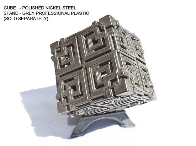 Cube 03 in Polished Nickel Steel