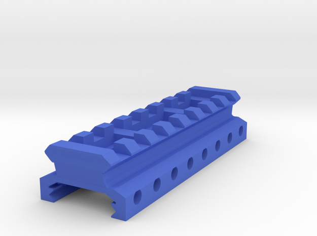"1/2"" High 8 Slots Picatinny Riser in Blue Processed Versatile Plastic"