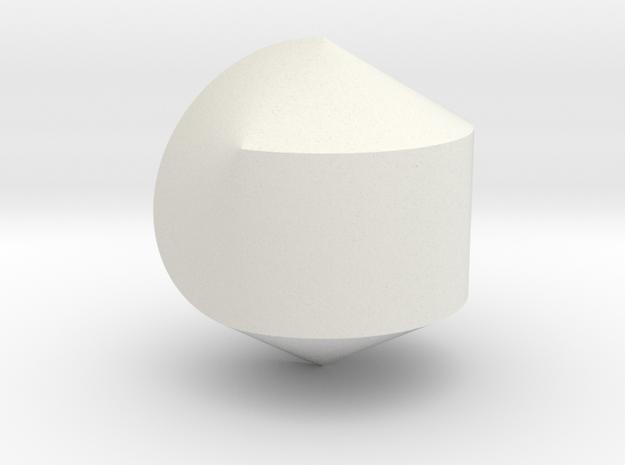 Hexasphericon Solid & True in White Natural Versatile Plastic