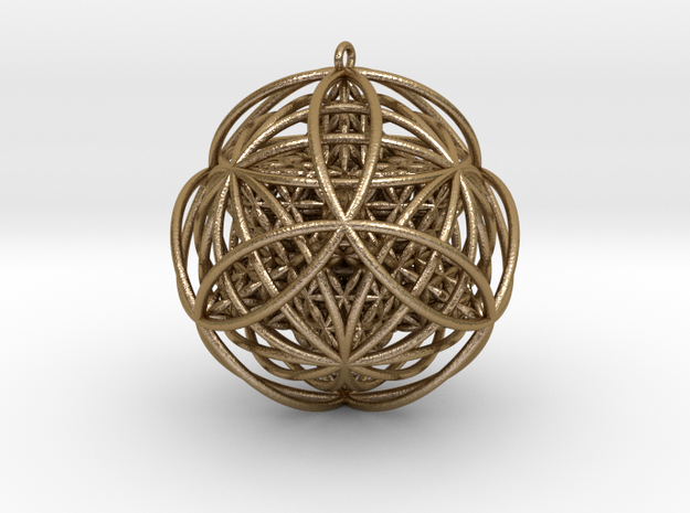 Stellated Flower of Life Vector Equilibrium Pendan