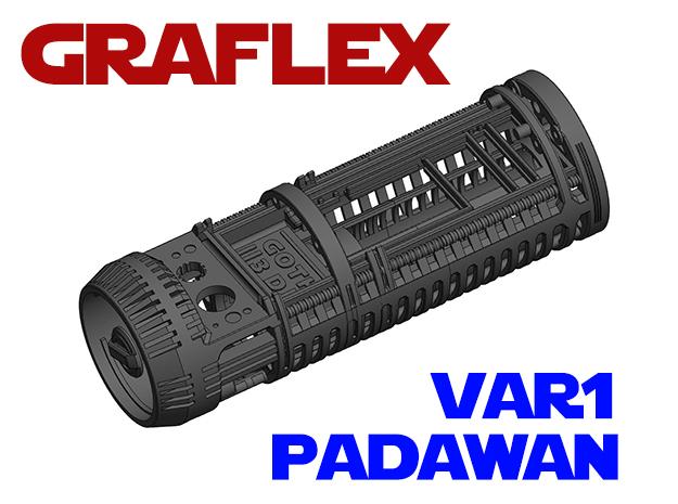 Graflex Padawan Var1 - Lightsaber Chassis  in White Natural Versatile Plastic