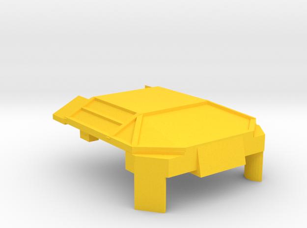 Yellow Lambo Chest in Yellow Processed Versatile Plastic