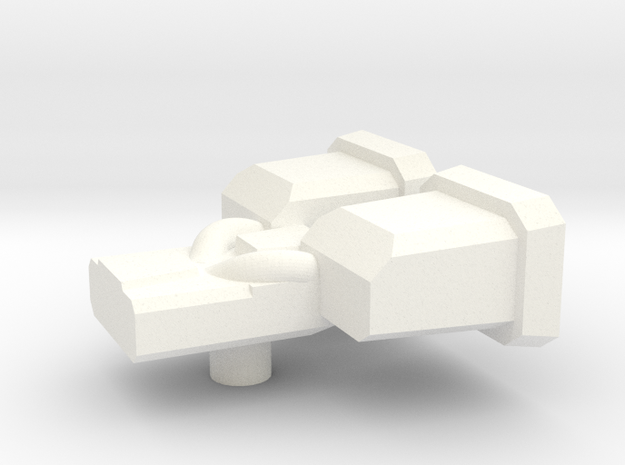 Yellow Lambo Dual Vent in White Processed Versatile Plastic