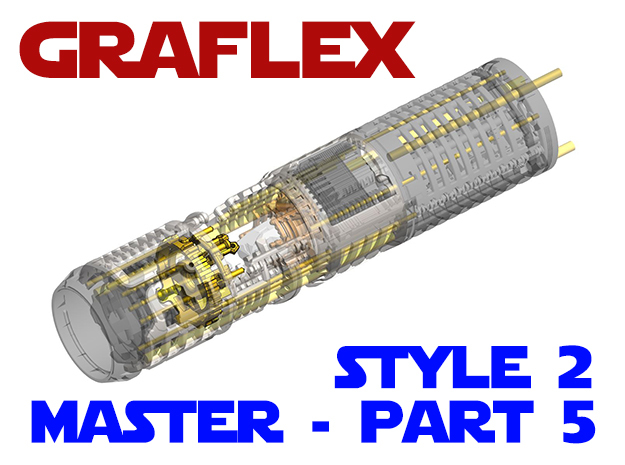 Graflex Master - Part5 Style2 - CC 2 in White Natural Versatile Plastic