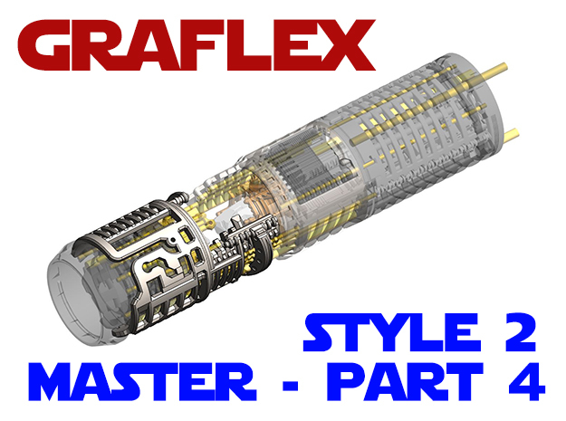Graflex Master - Part4 Style2 - Shell2 in White Natural Versatile Plastic