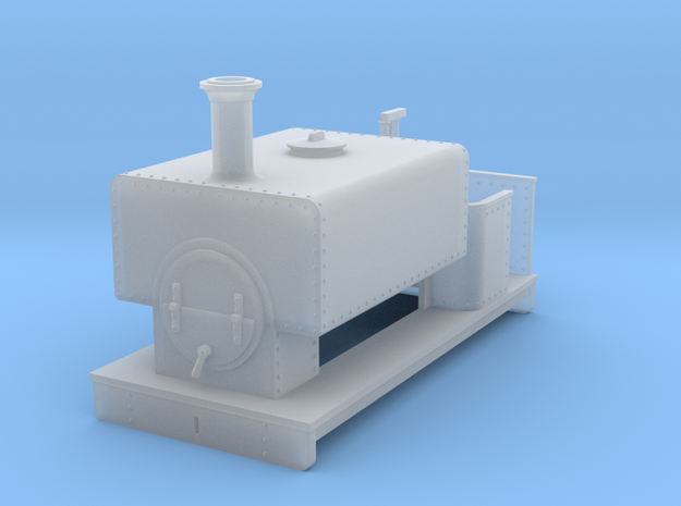 OO freelance 0-4-0T box tank loco in Smooth Fine Detail Plastic