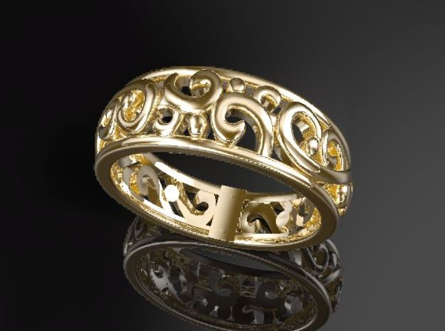 ArabesqueA-Ring US-Ring-size6.5(JP-size-#12)  in 14K Yellow Gold