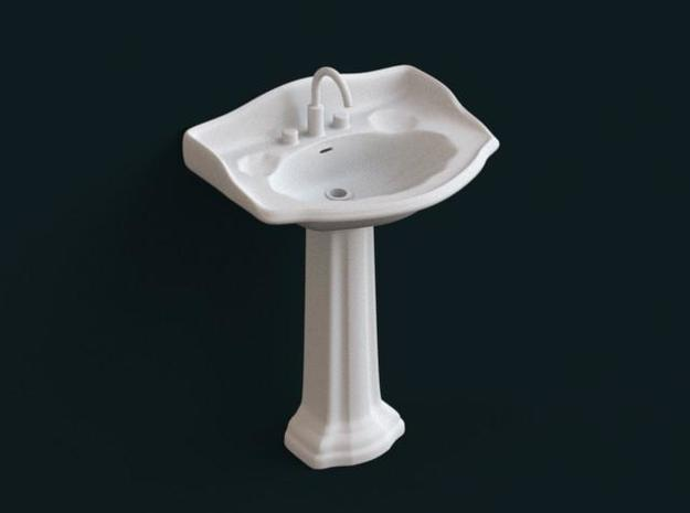 1:39 Scale Model - Sink 02 in White Natural Versatile Plastic