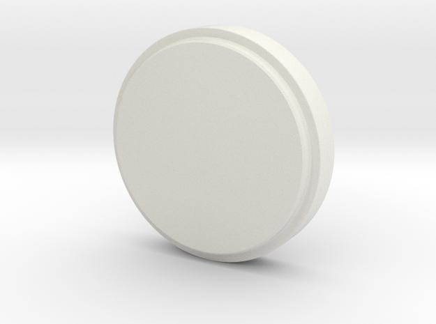 EK43s Single Dose Hopper Lid - Solid in White Natural Versatile Plastic