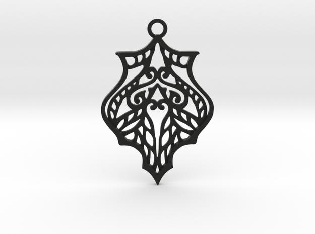 Eris pendant in Black Natural Versatile Plastic: Large