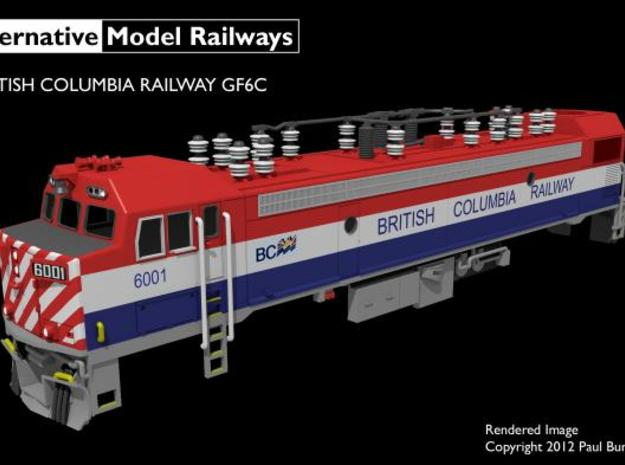 NGF6C2 N scale British Columbia Railway GF6C 3d printed