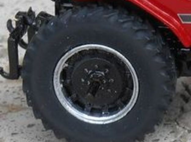 1/64 Scale 42 Inch Cast Wheel And Tire Set in Smooth Fine Detail Plastic