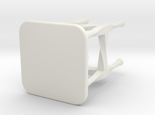 Doll Stool Chair 03 in White Natural Versatile Plastic