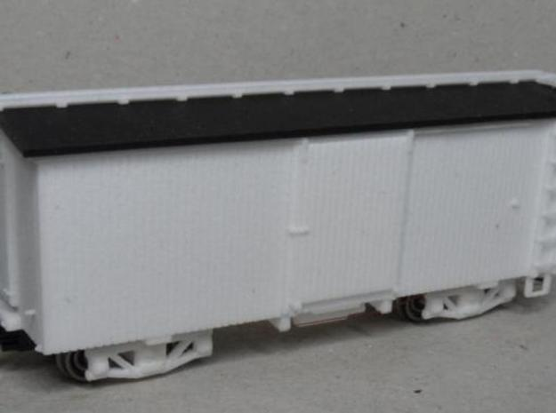 H0n30 22 foot Boxcar with 2 trucks (type 1A) 3d printed