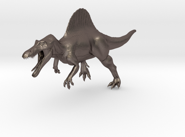 Spinosaurus Aegyptiacus (JP Style) in Polished Bronzed-Silver Steel
