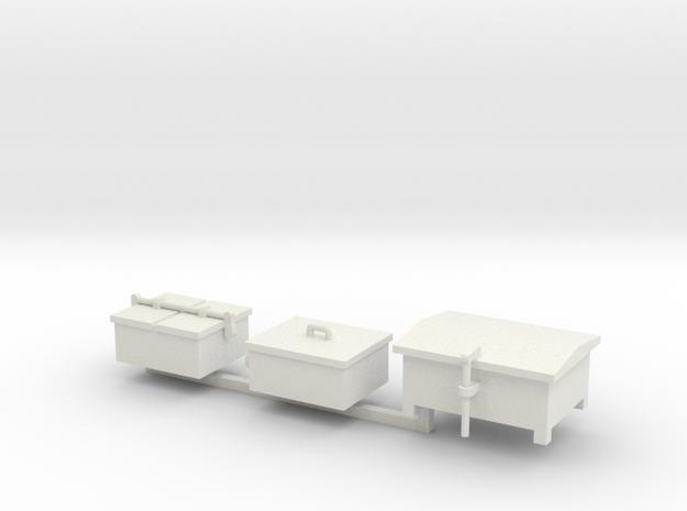 O Railroad Signal Boxes - Small in White Natural Versatile Plastic: 1:48 - O