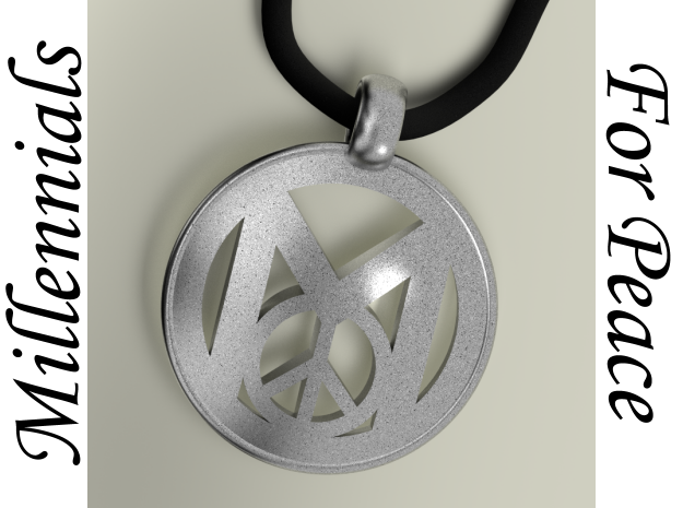 Millennial Peace Pendant (does not include cord) in Stainless Steel