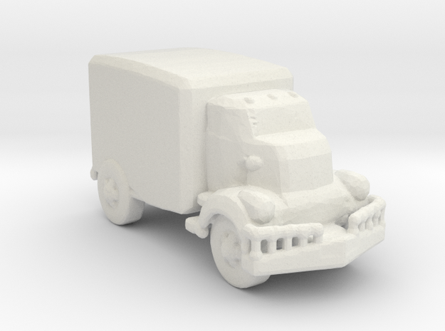 Jeeper's creeper Van v1 220  scale in White Natural Versatile Plastic
