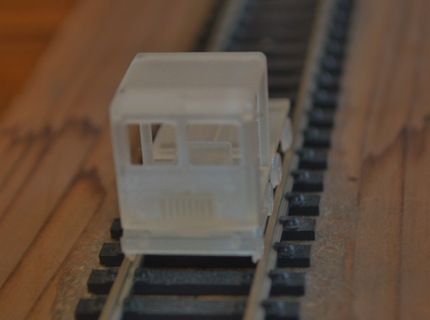 HO-Scale Small Speeder & Trailer 3d printed Production Sample #2