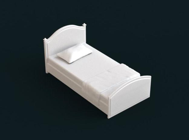 1:39 Scale Model - Bed 03 in White Natural Versatile Plastic