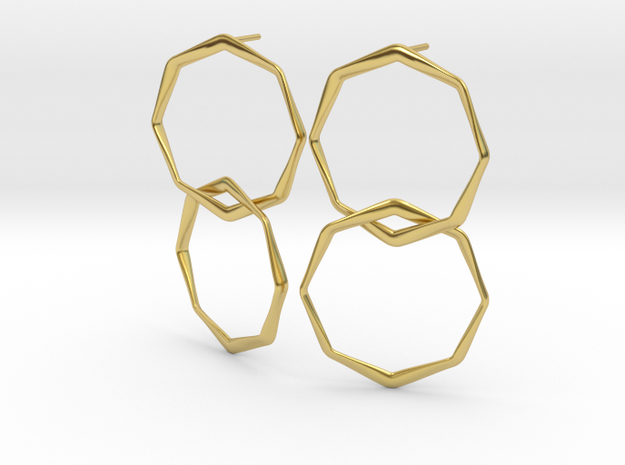 OPTAGON in Polished Brass (Interlocking Parts)